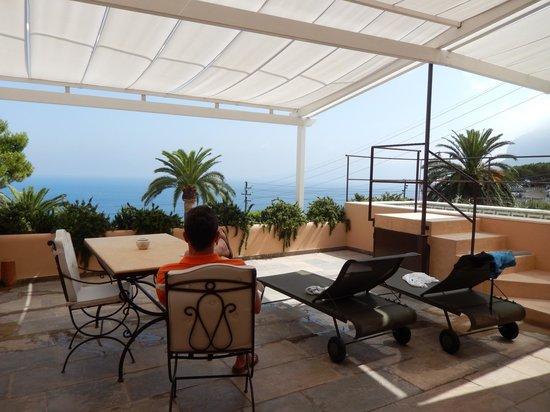Villa Marina Capri Hotel & Spa: terrasse de la suite