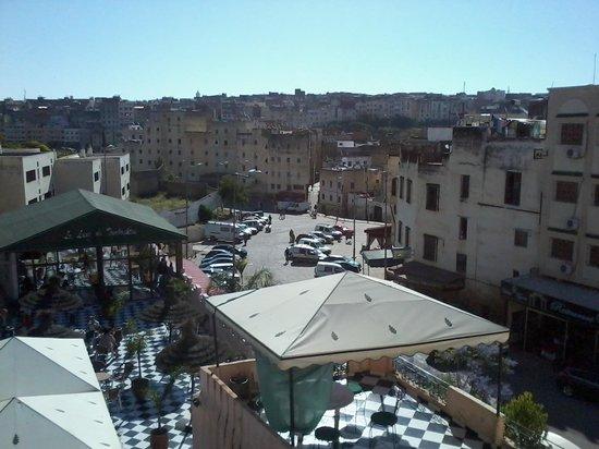 Hotel Tomboukto Fes: Colazione e the alla menta in terrazza
