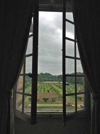 """Chateau de Saint-Loup: view from """"chambre de Voltaire"""""""