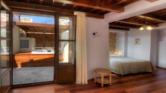 Palazzo Duca Hotel: Top floor suite with jaccuzzi