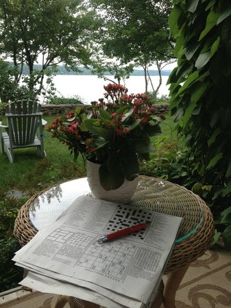 Manoir Hovey: Delightful view of the lake