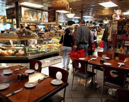 Costantino S Venda Ravioli Cafe Tables With Deli Counter
