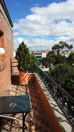 Sofitel Bogota Victoria Regia: one of the two Balcony views from room 808
