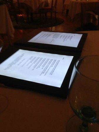 Wentworth: Cool backlit menu!