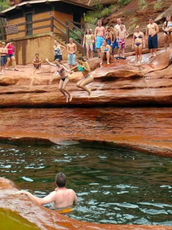 Slide Rock State Park: Jumping down the rock!