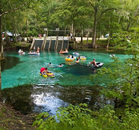 Ginnie Springs: Águas mornas