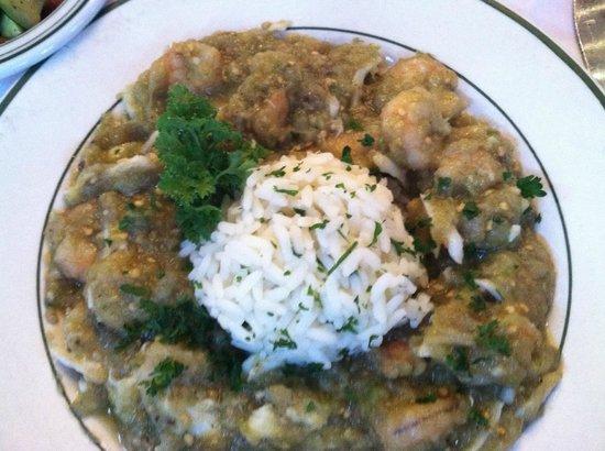 Bon Ton Cafe: Shrimp, Crab, and Eggplant Ettouffee