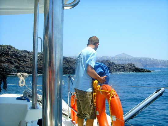 Spiridakos Sailing Cruises: on duty