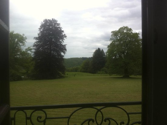 Chateau de Ribagnac : View from my room. I see meadows!