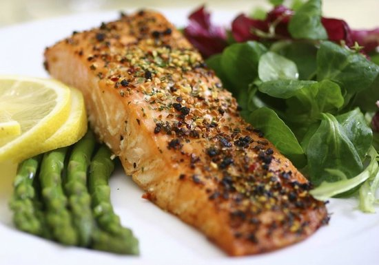 PJ's Bed and Breakfast Lodge: Honey Crusted Salmon