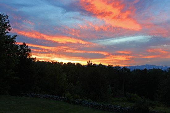 Snowvillage Inn: nice sunset from the Inn