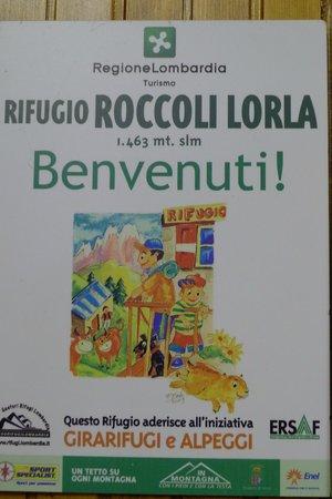 Rifugio Roccoli Lorla: Welcome Sign to the Rifugio
