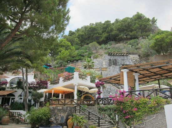Giardini Termali Aphrodite Apollon: Вид на верхние террасы парка