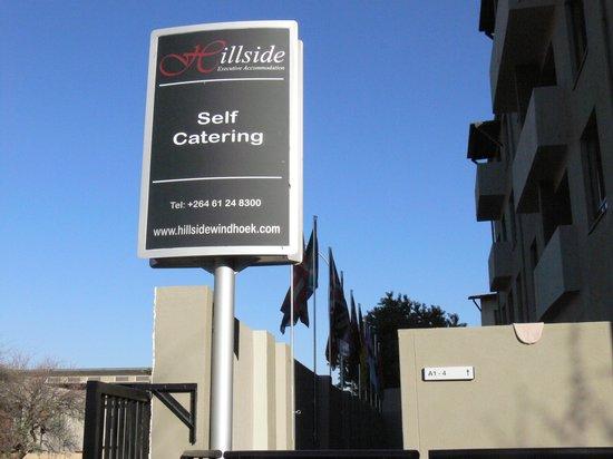Hillside Executive Accommodation: Hilside Billbord