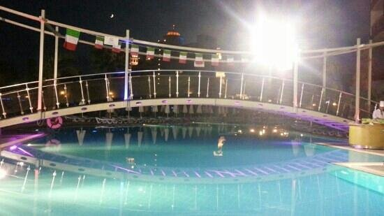 Saturn Palace Resort: main pool at night