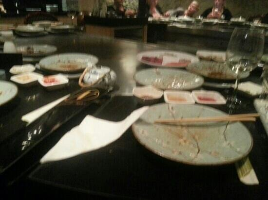 Teppanyaki Nippon : view from our table
