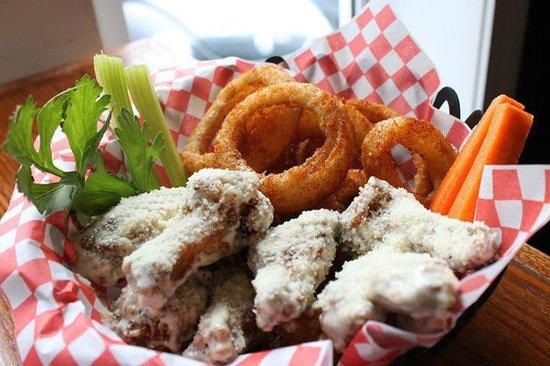 Wing'n It - Kenmount: Mayday wings with seasoned onion rings!