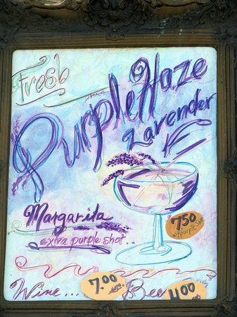 Purple Haze Lavender Farm: hats off to Julie Jacobsen and her Lavender Margaritas!
