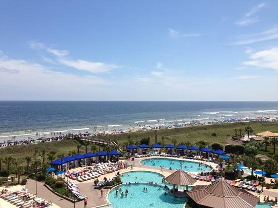 Oceanview from bedroom balcony of Penthouse 1. - Picture ...