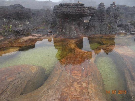 Parque Nacional do Monte Roraima: Jacuzzis, piscinas naturais co fundo de cristal