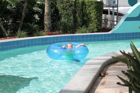 Coconut Cove Waterpark: grandson on the lazy river