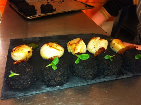King Scallop & Black Pudding starter