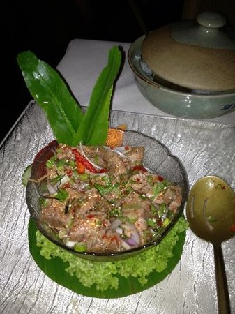Le Baan Thai: beef Salad, super lecker