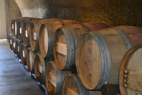 Reverie Winery: Barrels in the cave