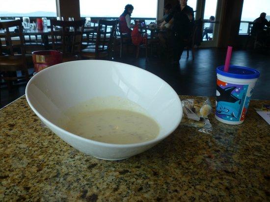 Baked Alaska: Clam Chowder bowl - enough for 2
