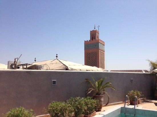Riad Awa: Vue de la terrasse