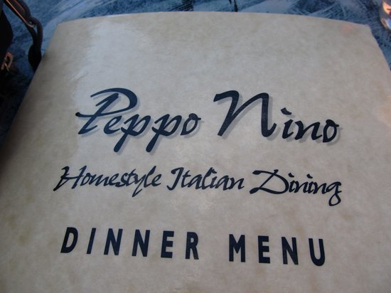 Peppo Nino: menu