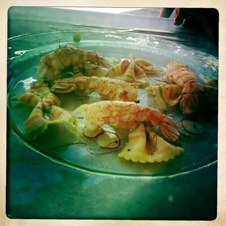 O de Mer : Salade de langoustines, aux oeufs de poisson volant !!!