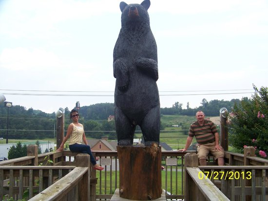 Quality Inn Interstate: Big Black Bear at the entrance
