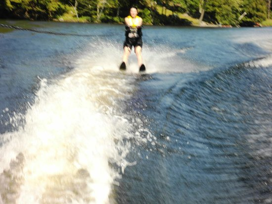 Mill Lake Cottage Resort: Me attempting to water-ski after many many years