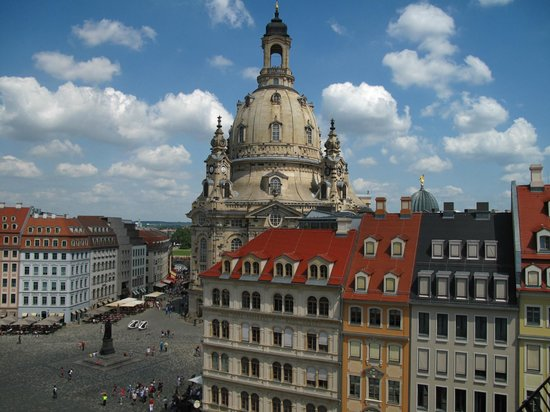 Steigenberger Hotel de Saxe: Room with a view: as seen from the top floor