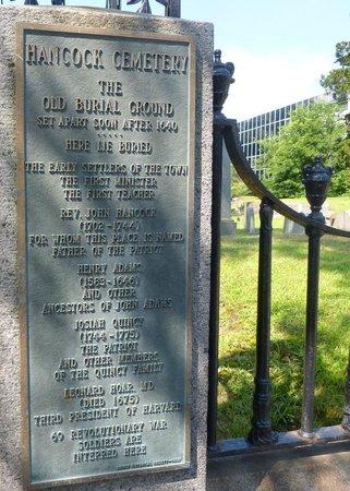 Entrance to the Hancock Cemetery