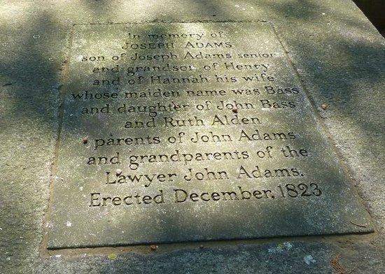 Hancock Cemetery: Ancestors of John Adams