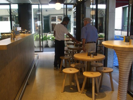 Sternen Grill: Inside downstairs tables