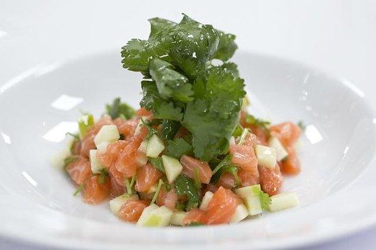 Snogebæk, Danemark : Salmon ceviche