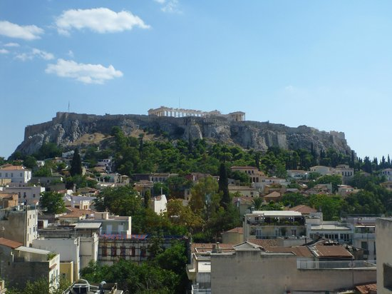 Plaka Hotel: day view