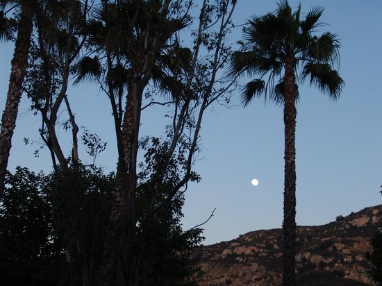 Oak Creek RV Resort: Full moon view from our site
