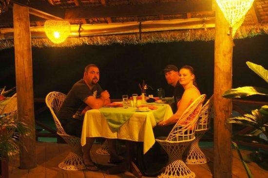 Vila Chaumieres Restaurant: our table