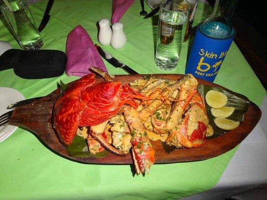 Vila Chaumieres Restaurant: the coconut crab