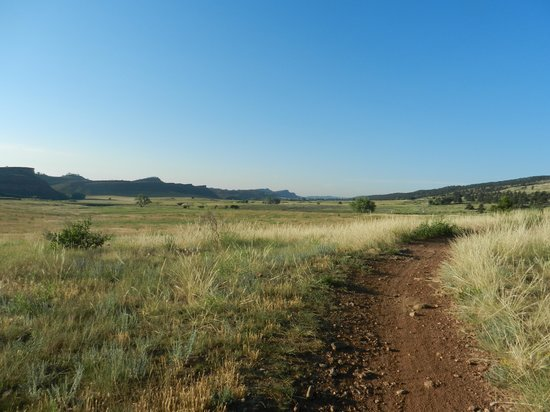 Bobcat Ridge Natural Area: Easy walking with this view