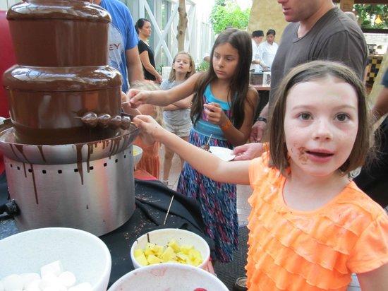 Zeppole Coastal Italian: chocolate fountain