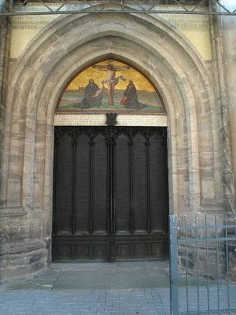The historical doors of the Wittenburg Schlosskirche