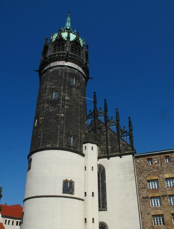 Schlosskirche: The main tower of the castle church
