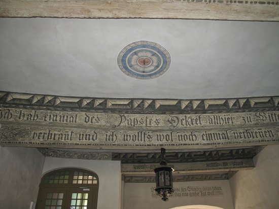 Lutherhalle/Lutherhaus: Ceiling at the main entrance of the Lutherhaus