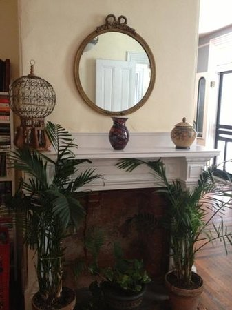 The Chalfonte: fireplace