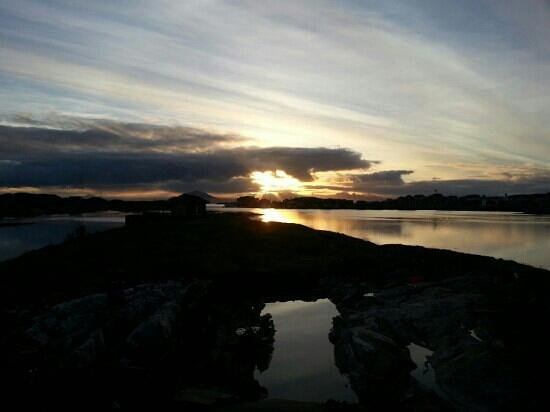 Lovund, Norway: sun come up again, seen from my house